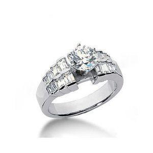 3 carat diamonds engagement ring white gold